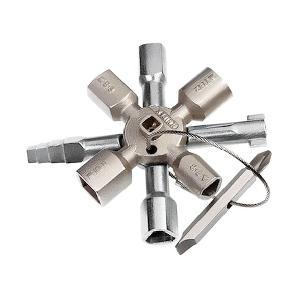 Univerzális keresztkulcs / 10 az 1ben kapcsolószekrény kulcs - Knipex