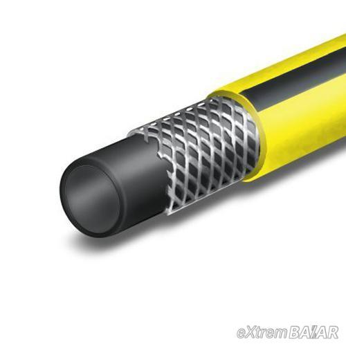 HÁROMRÉTEGŰ PROFI LOCSOLÓTÖMLŐ 29 mm (1) 25 méter sárga-fekete