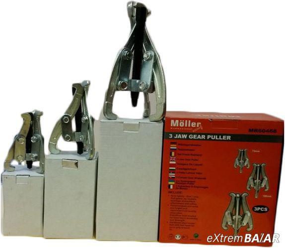 Möller 3 darabos körmös csapágylehúzó készlet MR60468 / 150mm - 100mm - 75mm /