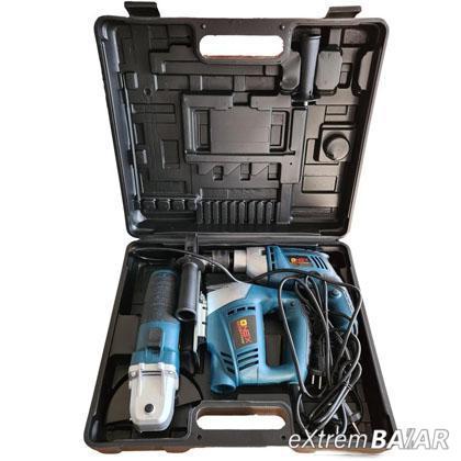 ONEX Profi 3 darabos készlet,  ütvefúró + sarokcsiszoló + fűrész. OX-1086