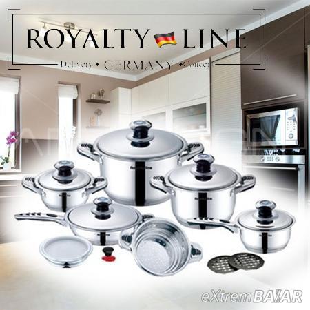 Royalty Line rozsdamentes 16 részes edénykészlet acél fedővel RL-16R  *** BRONZE***