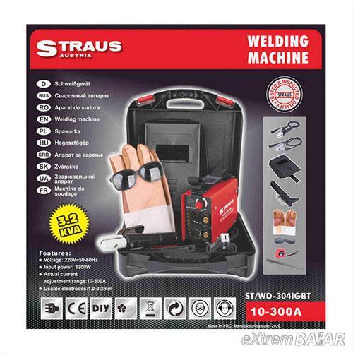 Straus 300A Digitális Kijelzős Inverteres Hegesztő 13 kiegészítővel kofferben ST/WD-304IGBT