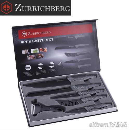 Zurrichberg 5 darabos kerámia késkészlet +  ajándék hámozó
