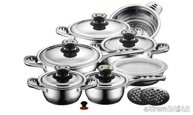 ZURRICHBERG ZBP/7001 edények készlet 16 db. rozsdamentes acélból