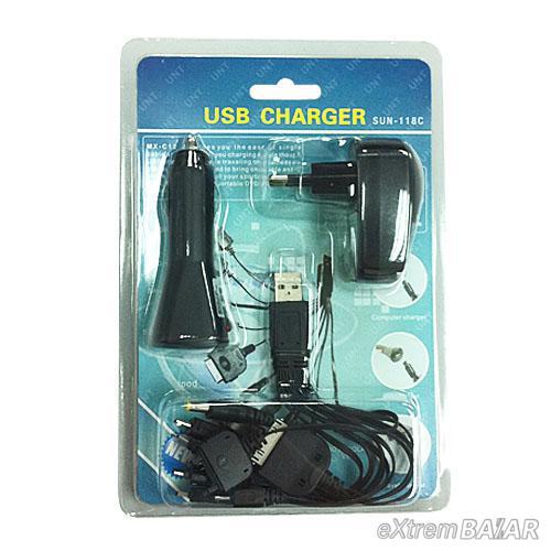 USB CAR CHARGER (SUN-118C)