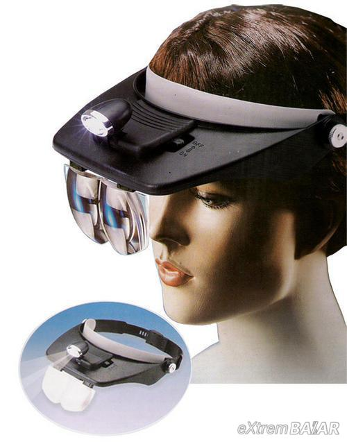 Fejpánt nagyítóval, lámpával, light head magnifying glass