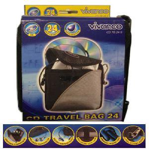 Vivanco CD TRAVEL BAG 24 db-os