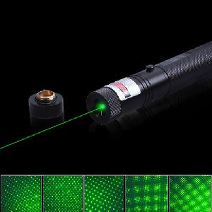 Green Laser Pointer cserélhető fejrésszel (1000mw 532nm)