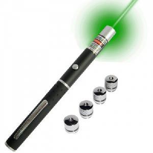 Green Laser Pointer cserélhető fejrésszel +4 FEJ (Extra erős)