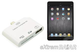 Lightning Camera Kit i5-14 3 in 1 USB Card Reader 8-Pin Lightning Adapter Camera Connection Kit for iPad 4/iPad Mini