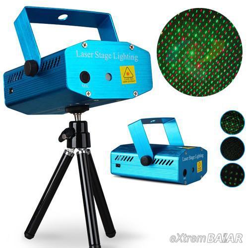 Disco fény Mini Laser Stage Lighting ( többféle alakzattal, szivecskék, csillagok )