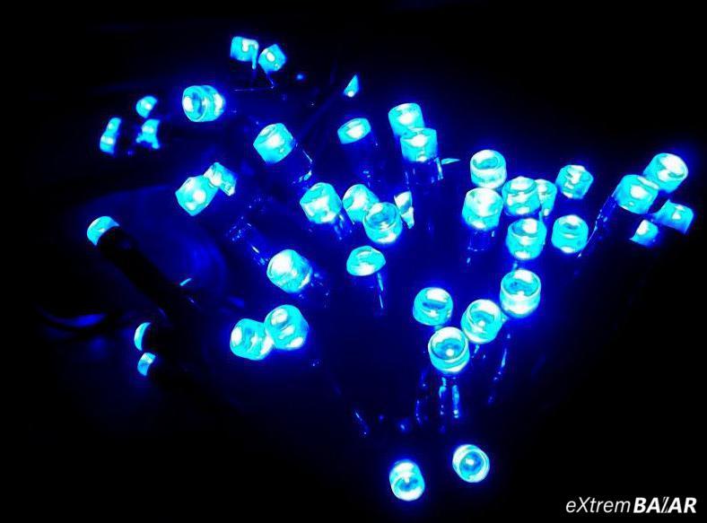 Fényfüzér Beltéri kék szín (100 Led) 8 világítási módozat 7meter