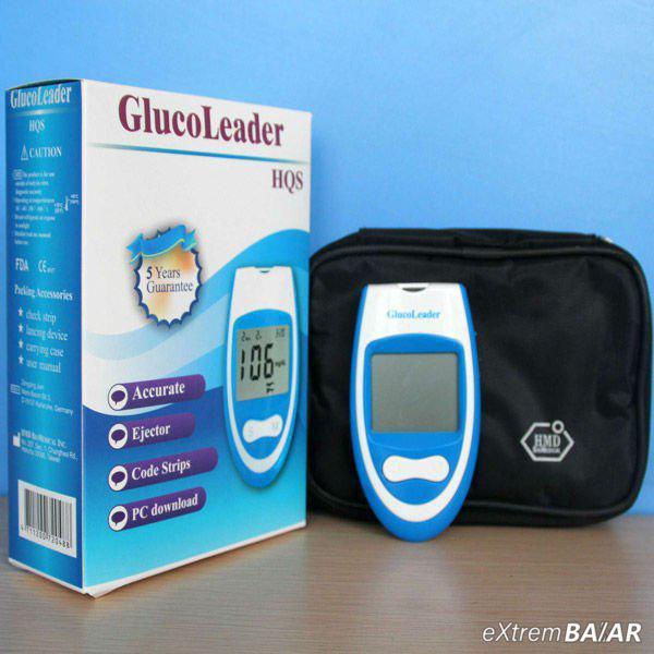 Glucoleader HQS Vércukorszintmérő készülék HQS teszt