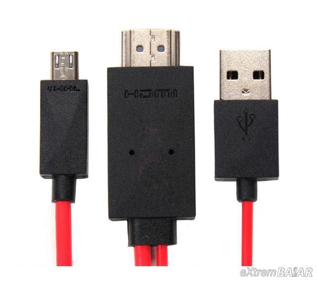 Micro USB – HDMI kábel / MHL média adapter okostelefonhoz