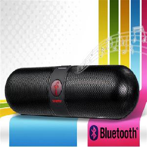 kapszula alakú hangszóró és FM rádió és TF Card Reader F-808 Bluetooth V4.0 ( Fekete )