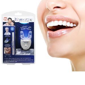 Dental White Fogfehérítő Szett - Professzionális és Gyors Fogfehérítés Otthon, UV Fénytechnológiával