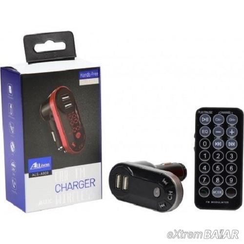 FM bluetooth  transmitter autós MP3 lejátszó - ALS-A909