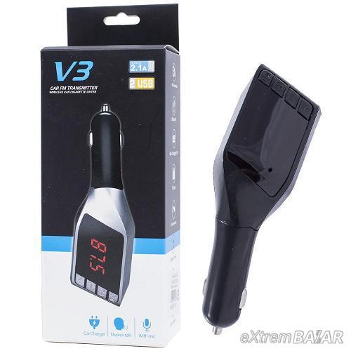 V3 FM bluetooth transmitter autós MP3 lejátszó