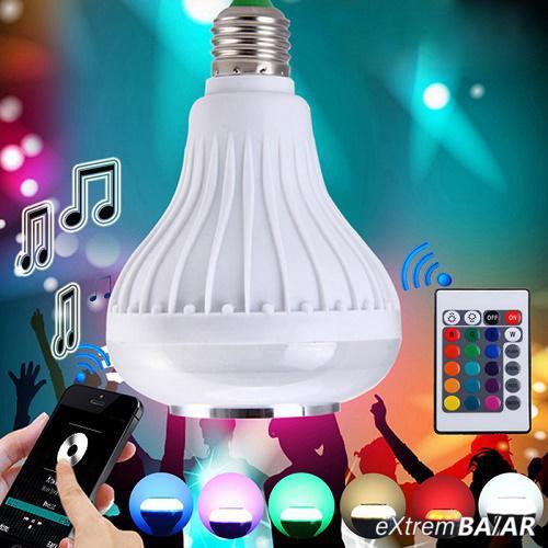 Bluetooth Party Led hangszóró / E27 MP3+RGB LED izzó  távirányítóval