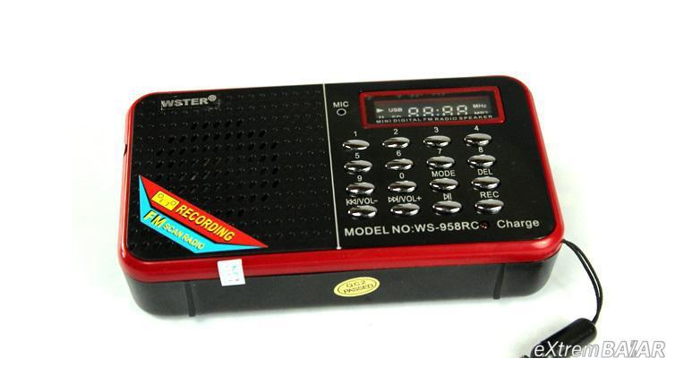 MP3 MINI-SPEAKER WS-958RC FM RADIO