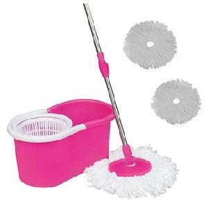 Magic MOP 2 felmosófej Pink  Mágikus Press forgatható fogantyú, Szárító Cleaner Bucket