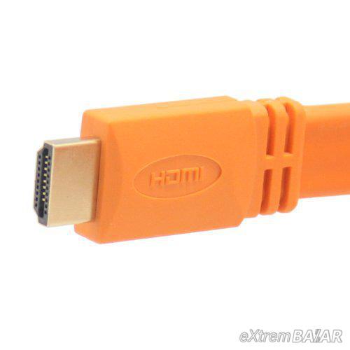 HDMI kábel 1.4 verzió 3D Full HD 1080p kábel  3méter naracssárga
