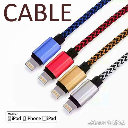 Kiváló minőségű kerek, fonott, szőtt USB Data Sync töltő zsinór Vezeték iPhone 5, 5mp, 6, 6Plus, iPad