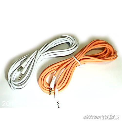 Audió kábel 3,5 mm-es audio Jack kábel AUX Aranyozott 5 méter NO: 17581/1500301