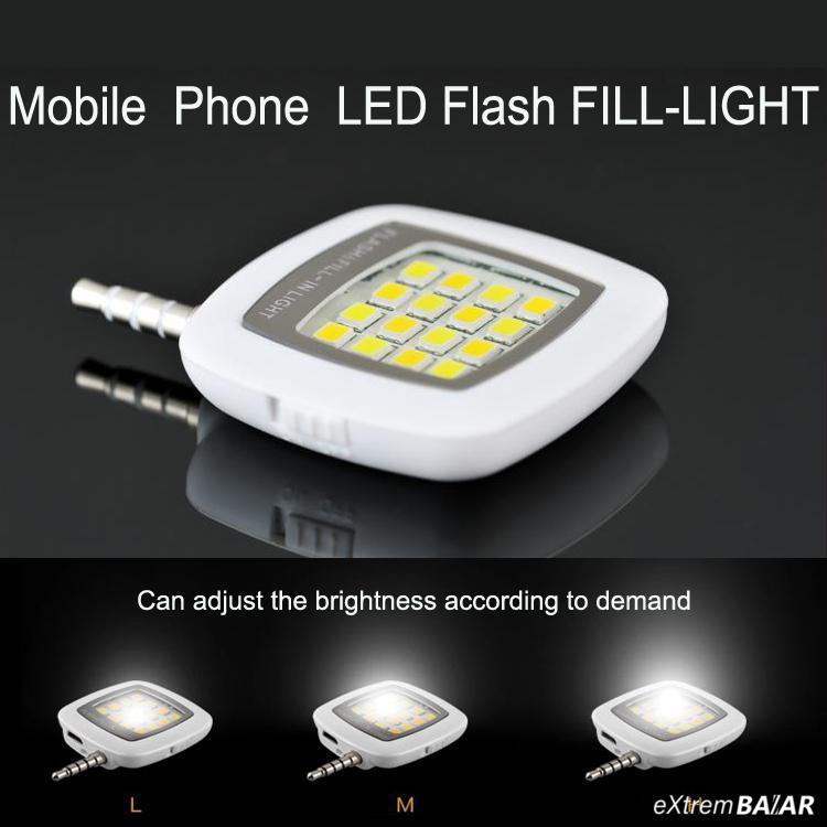 LED vaku mobiltelefonhoz ( iPhone 6 5s Galaxy S5 Note4 Multiple Photography 16 led lights )