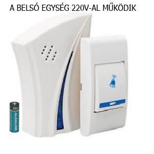 Vezeték nélküli csengő, Wireless Digital Remote Control Doorbell J610B(AC)