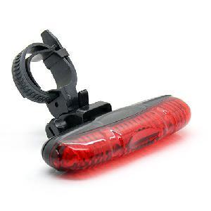 Kerékpár hátsó lámpa  5 LED-es 3-Mode XJ-2212