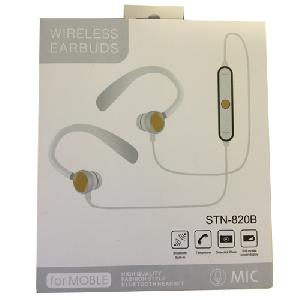 Divatos Sport Bluetooth Headset, vezeték nélküli fülhallgató STN-820B fehér