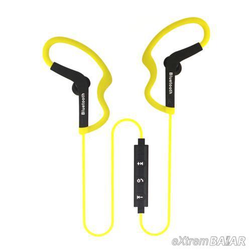 Divatos Sport Bluetooth Headset, vezeték nélküli fülhallgató D910 YELLOW