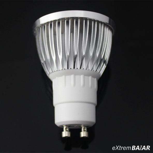 LED izzó 2800K GU10 Meleg fehér 3W domborított üveg