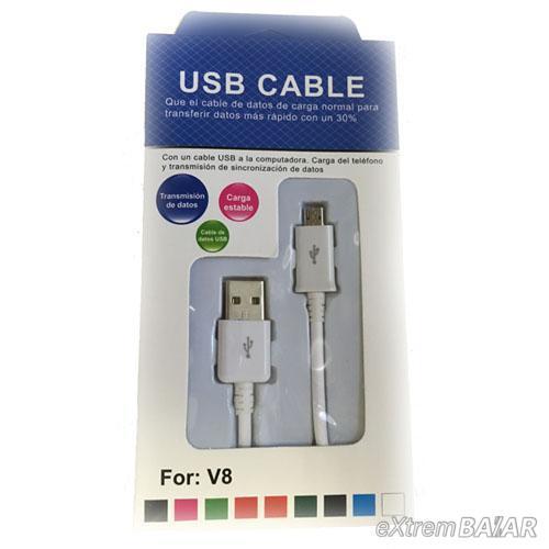 Micro USB Kábel 1 m Fehér