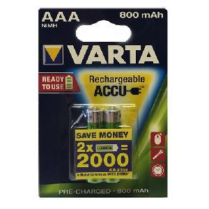 Varta AAA 800mAh Rechargeable Accu Ready to use  2 Pcs