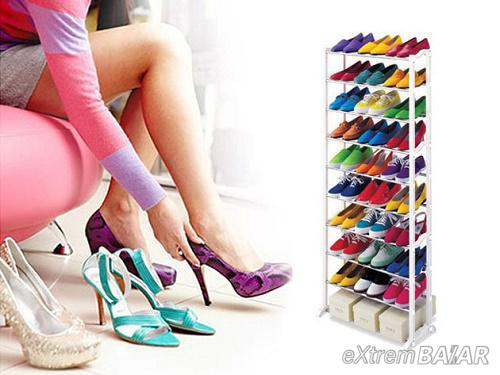 Amazing Shoe Rack 10 soros műanyag cipőtartó 30 pár cipőnek