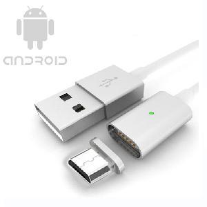 Mágneses USB telefontöltő kábel Androidos készülékekhez 1m
