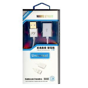 USB 2.0 Hosszabbító Kábel AM - AF 1,5m fehér