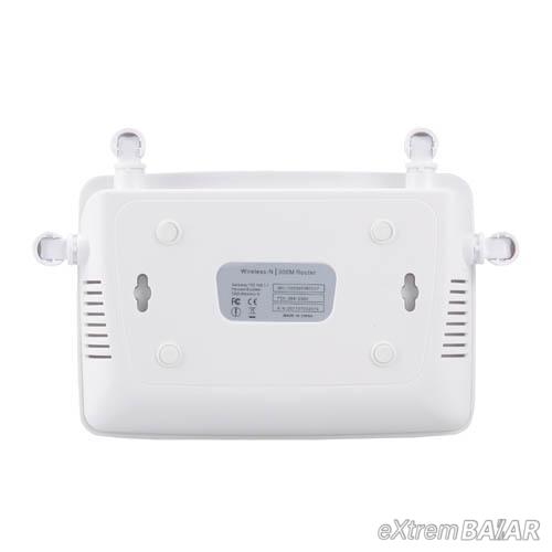 Wireless Home Router WIFI Repeater Boost Extender Network 802.11 b/g/n 5 Port RJ45 300Mbps White 4 Antennas