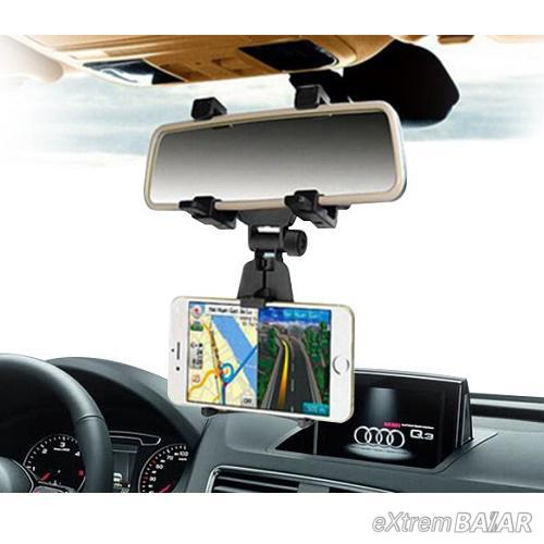 Tükörre szerelhető, univerzális telefon és gps tartó
