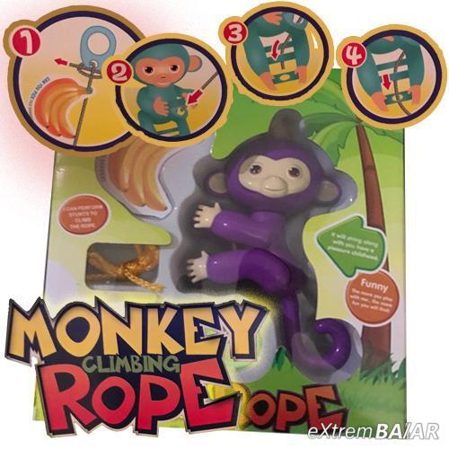 Kötélmászó majom - Monkey Climbing Rope - több színben