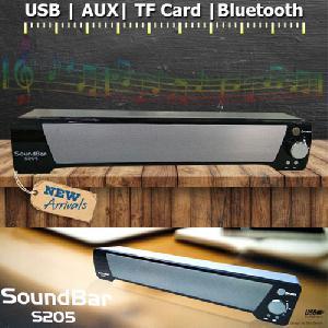 Soundbar S205 Wireless Portable Bluetooth Subwoofer Speaker Mega Bass Sound Bar