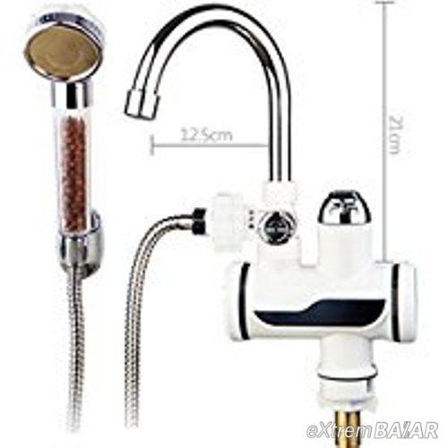 Átfolyós Vízmelegítő Csaptelep Vízszűrős Zuhanyszettel Lcd kijelzővel