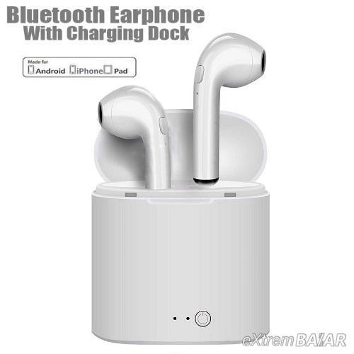 i7 TWS mini vezeték nélküli bluetooth fülhallgató mágneses tokkal