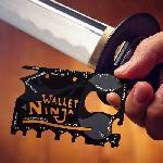 Wallet Ninja - 18 az 1-ben hitelkártya méretű zsebszerszám