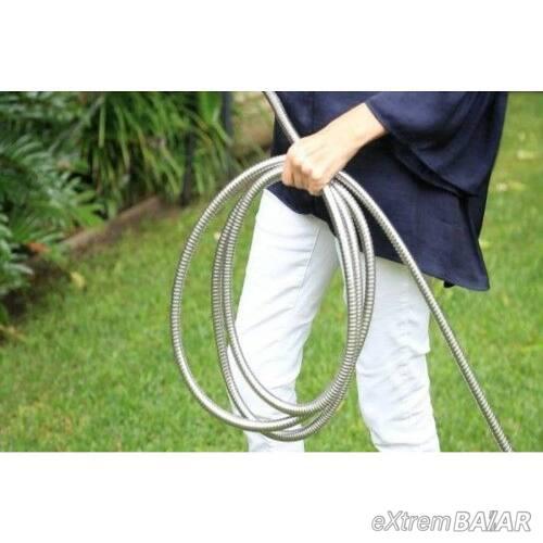 Steel Hose csavarodásmentes extra erős fém locsolótömlő, slag 30 méter