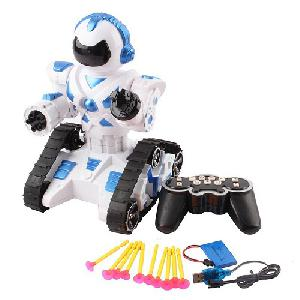 RC lövöldözős robot / távirányítós robot – lánctalppal és lövedékekkel!