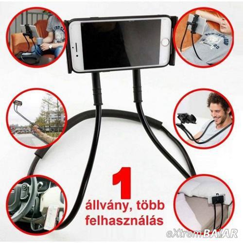 Univerzális, hajlítható telefontartó