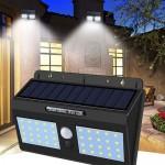 Extra fényes, napelemes, mozgásérzékelős kültéri lámpa YH818